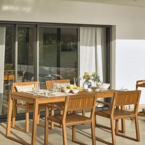 Mesa de exterior Emili madera maciza acacia 190 x 90 cm FSC 100%