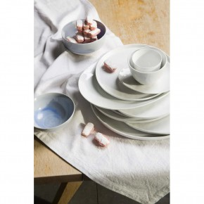 Set 12 platos 22cm Porcelino White